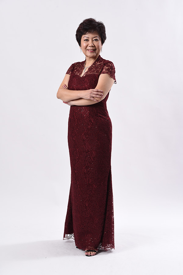 Maroon corded Mothers Evening Gown Modern Cheongsam