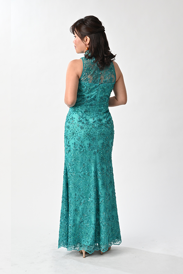 Sleeveless Beaded mermaid-cut modern cheongsam wedding