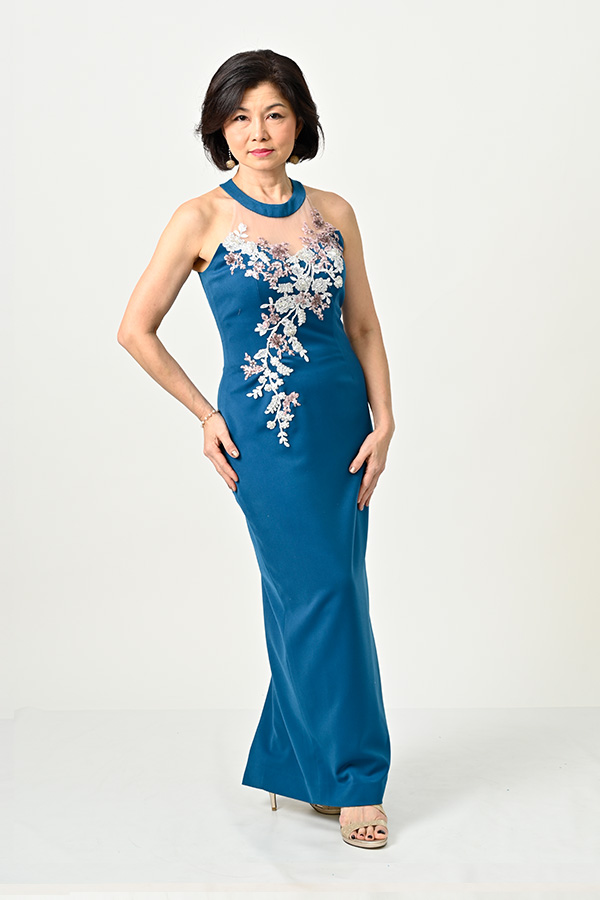 Round neck Petite-Mother's-Gown