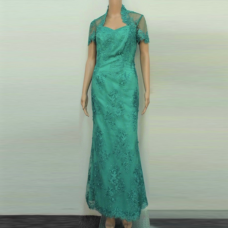 Turquoise nonya inspired Mother of bride gown