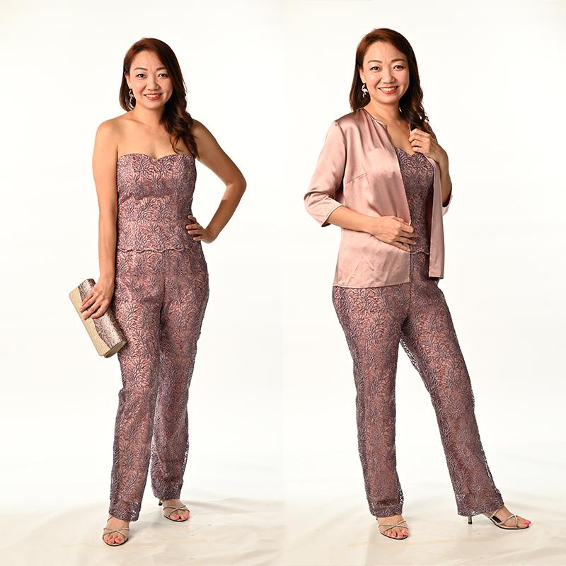 Tan colour Silk Coaty with 3/4 sleeve